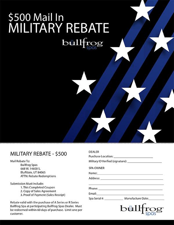 Military Rebate Coupon